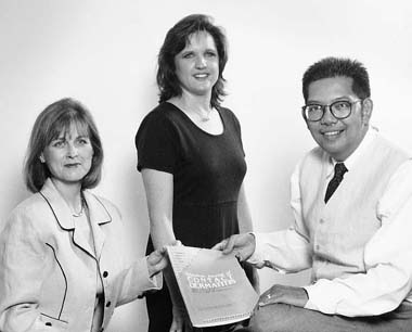 (Left to right) Dr. Lisa Garner, Jo Urquhart, Dr. Ponciano Cruz